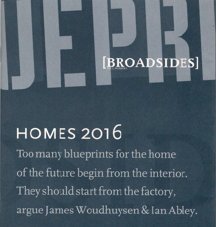 Homes 2016: Blueprint Broadside