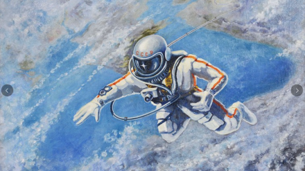 Over the Black Sea, by Alexei Leonov (1973)